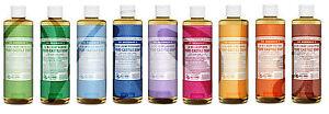 Dr Bronner Organic Moisturising Pure Castile Liquid Natural Vegan Soap 473ml
