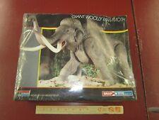 New listing Dinosaur model kit 1987 Monogram Giant Woolly Mammoth