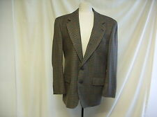 """Mens Jacket,C&A,Chest 38"""",Waist 32"""",Green/Red/Blue Pattern, Pure new Wool - 1401"""