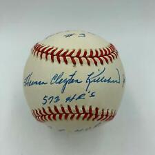 Beautiful Harmon Killebrew Signed Heavily Inscribed STAT Baseball SGC COA