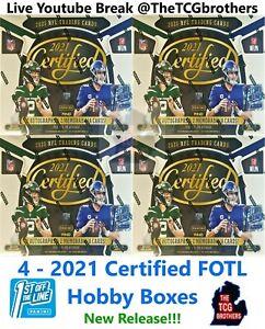 Chicago Bears Break 815 4x Certified FOTL 2021 Hobby Box 1/4 Case Team