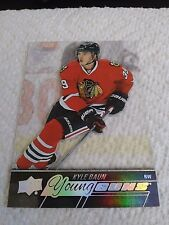 Kyle Baun 2015-16 Upper Deck Young Guns Clear Cut Rookie Blackhawks