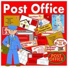 CD POST OFFICE ROLE PLAY TEACHING RESOURCES EARLY YEARS KEY STAGE 1-2 ADDRESS