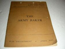 us military 1945 the army baker cook book