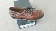 LOAKE LIFESTYLE 521T TAN LEATHER BOAT SHOES.  SIZE 9.  RRP-£110