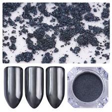 0.5g BORN PRETTY Mirror Black Nail Glitter Powder Shining Manicure Pigment Dust