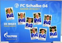 Postkarte Fußball + FC Schalke 04 + Die Mauer der Saison 2010/2011 + #190420