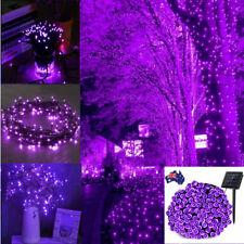 400 LEDs String Solar Powered Purple Christmas Wedding Party Garden Fairy Lights