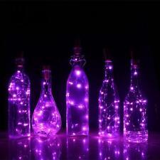 1.5M Solar Wine Bottle Cork Shaped LED String Light X'mas Wedding Party Decor TL