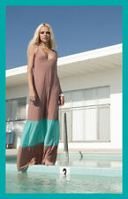 NWT CHASER LA Color Block Maxi Dress in Teal/Clay M $140