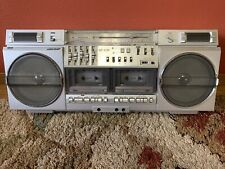 Sharp GF 575 Ghetto Blaster Stereo Boombox TESTED and WORKING WELL!!!
