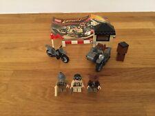 Lego 7620 Indiana Jones Motorcycle Chase 100% Complete + Instruction