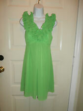 NWT NEW LILLY PULITZER Green LINED Shift Dress RUFFLE SZ 0 XSMALL