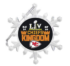 Kansas City Chiefs Super Bowl Snowflake Blinking Holiday Christmas Tree Ornament