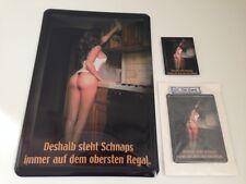 DESHALB STEHT SCHNAPS IMMER AUF DEM OBERSTEN REGAL 3er Set - Blechschild+Extras