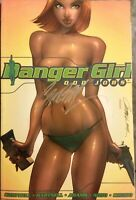J.SCOTT CAMPBELL SIGNED Danger Girl Odd Jobs DC Graphic Novel TPB VG free shpg