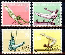 Liechtenstein 1957 Sports Issues Complete Set Scott's 308 309 310 & 311 Used
