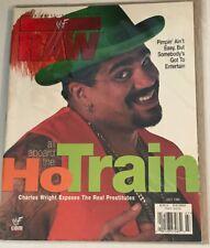 WWF RAW Magazine CHARLES WRIGHT Ho Train LN in COLTR. SLEEVE