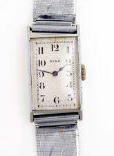 CYMA TAVANNES VINTAGE 1930S/40S CHROME/STEEL TANK  SWISS WRISTWATCH SPARES