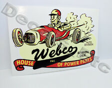Webco Speed Shop Vintage Style Vinyl DECAL, Car STICKER, rat rod, hot rod racing