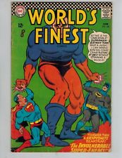 World's Finest 158   Superman & Batman, Roy Raymond! 1966 Checkerboard cover VG
