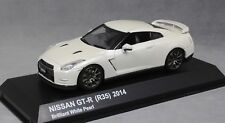 Kyosho Nissan GT-R R35 in Brilliant White Pearl 2014 03744BW 1/43 NEW