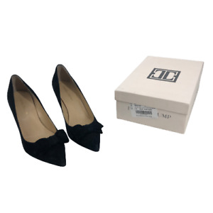 Ivanka Trump Women Shoes Benny Pointy Toe Bow Pump Heels with Box Suede Black 10