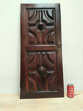 Vintage from 60´s worked Double door panel oak wood Original Knob *Use as frame