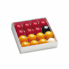 Boules de billard, Jeu billes billards 8 pool jaunes et rouges 50.8 mm