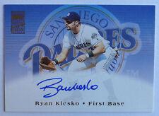 2002 Topps Certified Autograph #TARK Ryan Klesko San Diego Padres On-Card Auto