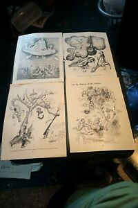 4 Vintage prints from punch by EMETT ideal for framing (f)