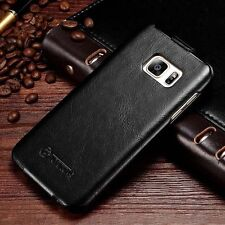 Vintage Vertical Flip Leather Case Protective Cover For Samsung Galaxy S7 edge C