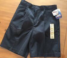 Dickies Shorts Womens Size 14 Blue Workwear Pleated Front NWT
