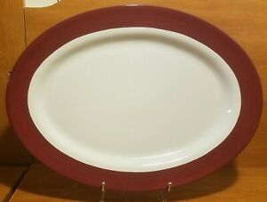 """Pampered Chef SIMPLE ADDITIONS CRANBERRY 19"""" Oval Serving platter, Excellent"""