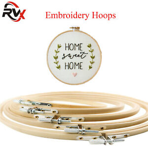 Top Quality Bamboo Hand Embroidery Cross Stitch Ring Hoop Frames Craft 8cm-18cm