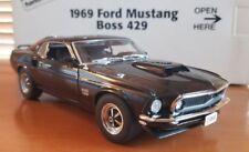 "Danbury Mint 1969 Ford Mustang Boss 429 Raven Black with Box ""MIB"""