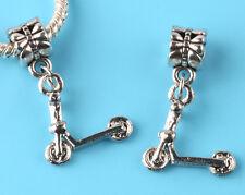 2pcs Tibetan silver Scooter Charm bead fit European Bracelet Pendant DIY #F146