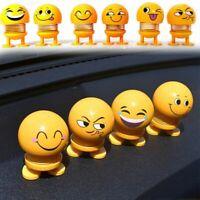 Shaking Head Car Toy Yellow Auto Dashboard Interior Decor Adhesive Feet Wobble