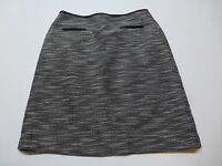 Calvin Klein Womens Size 6 Lined Black & White Weave Skirt Great Condition