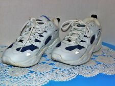 Womens Tennis Shoes, Spalding Size Eight, White Leather W/Blue Trim