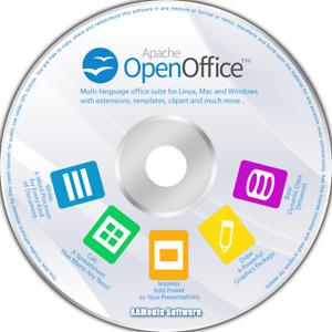 Open Office 2021 - Latest Version for Microsoft Windows & Mac on CD