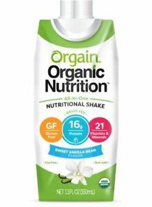 Orgain Organic Nutritional Shake, 11 oz Carton