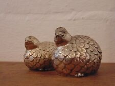 Silver-Plated Partridge Bird Salt and Pepper Shakers - Vintage
