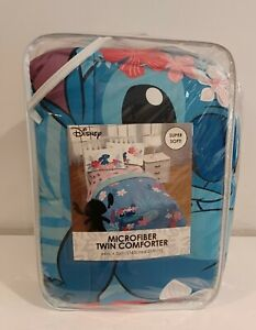 "NEW DISNEY Lillo & Stitch TWIN MICROFIBER COMFORTER BEDDING SIZE 64"" X 86"""