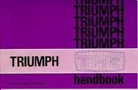 Triumph Tr6 Official Owner'S Handbook 1974 1975 1976 Glovebox Driver'S Book