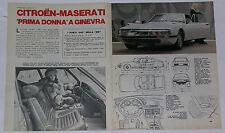 Article Articolo 1970 CITROEN SM MASERATI