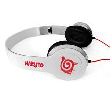 Naruto White Konoha Headphone FOLDABLE Soft Earphone Accessories
