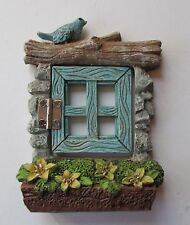E b Window with bird FAIRY TREE opens Figurine miniature Garden Fantasy Ganz