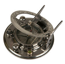 Authentic Models Co019 Mariner's Compass and Sundial Polished Silver Aluminum