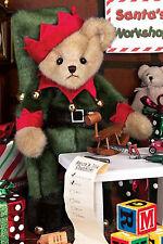 "14"" JINGLE TOES ELF TEDDY BEAR~BEARINGTON BEARS~CHRISTMAS~BELL COLLAR~173239"